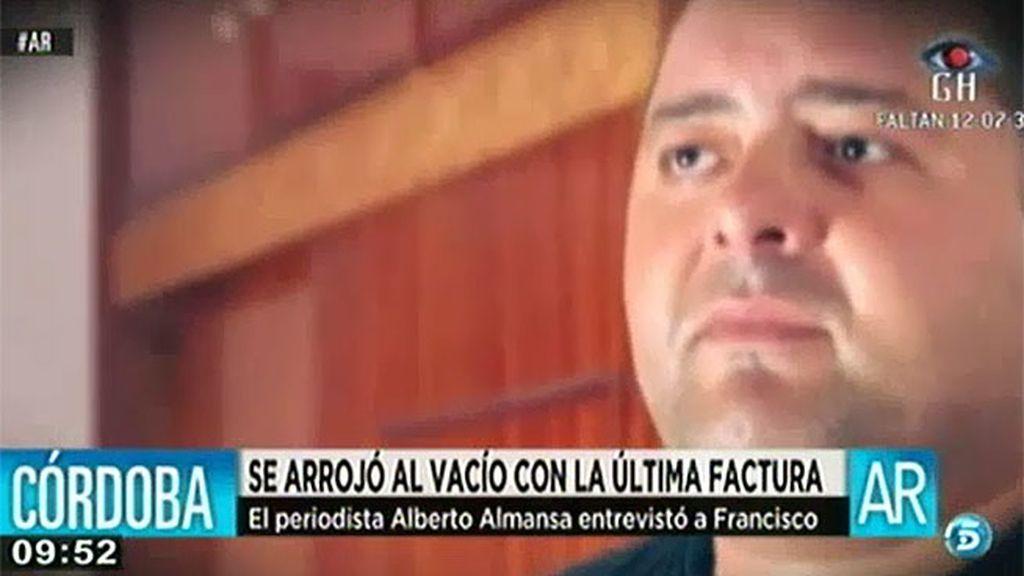 Francisco se suidició tras recibir una carta de Hacienda