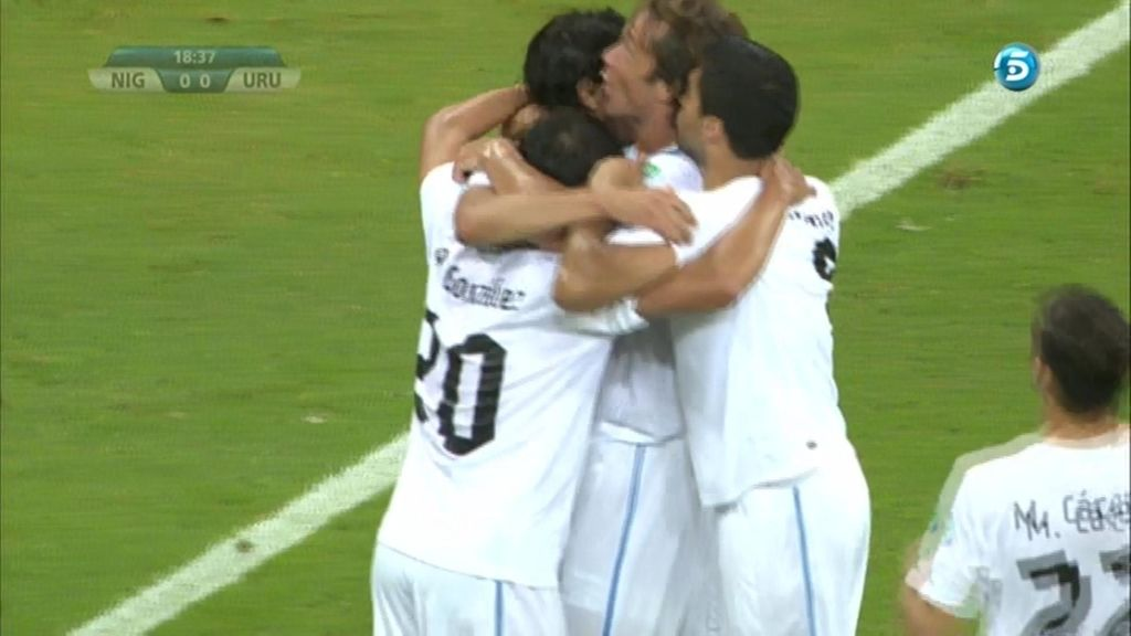 Gol: Nigeria 0-1 Uruguay (Min. 18)