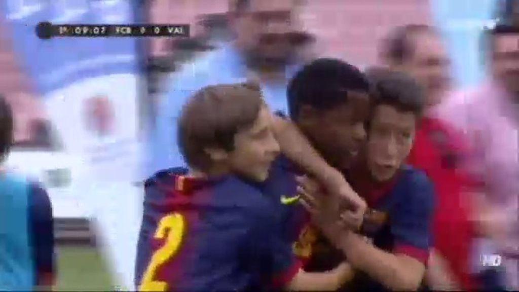 Gol: Barcelona 1-0 Valencia (min.9)