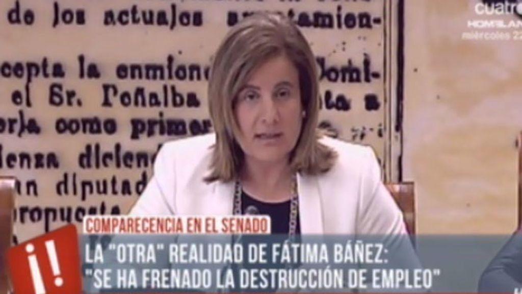 Fátima Báñez comparece en el Senado para intentar explicar los pésimos datos del paro