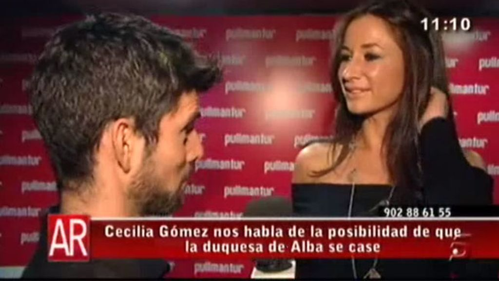 Cecilia Gómez, ¿enamorada?