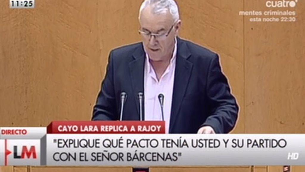 """Cayo Lara: """"Dimita para que el pueblo hable"""""""