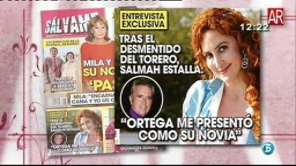 "Salmah: ""Ortega me presentó como su novia"""