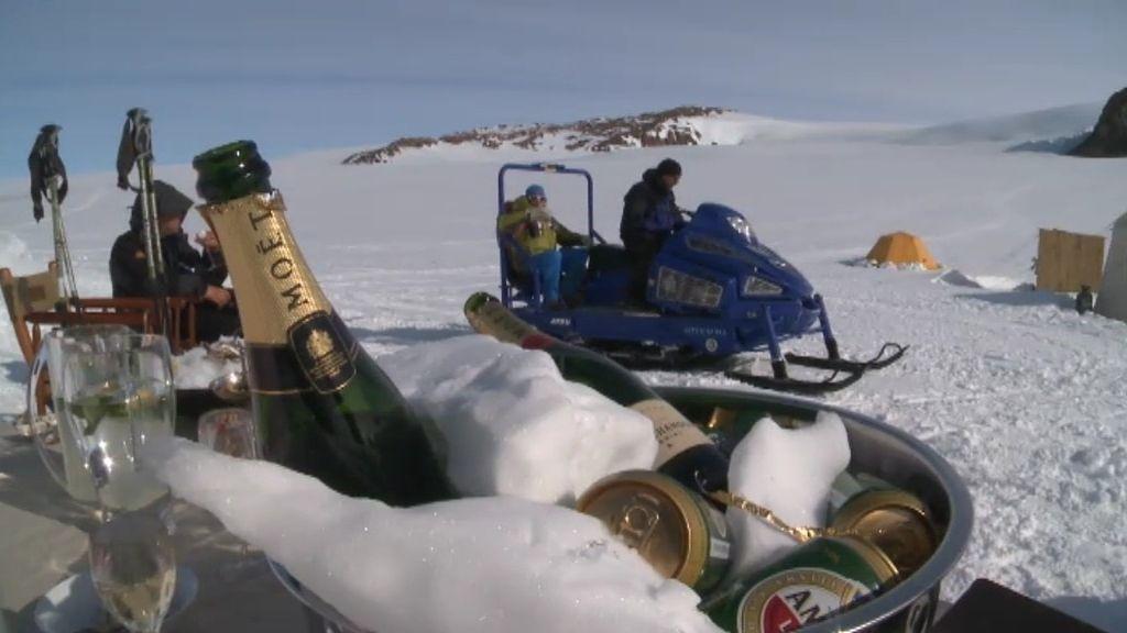 Lujo y glamour en la Antártida