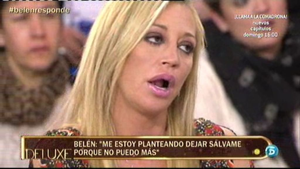"""Belén Esteban: """"Estoy pensando dejar Sálvame porque no puedo más"""""""