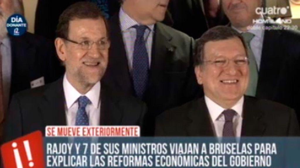 Funcionarios europeos protestan mientras Rajoy llega a Bruselas con sus ministros