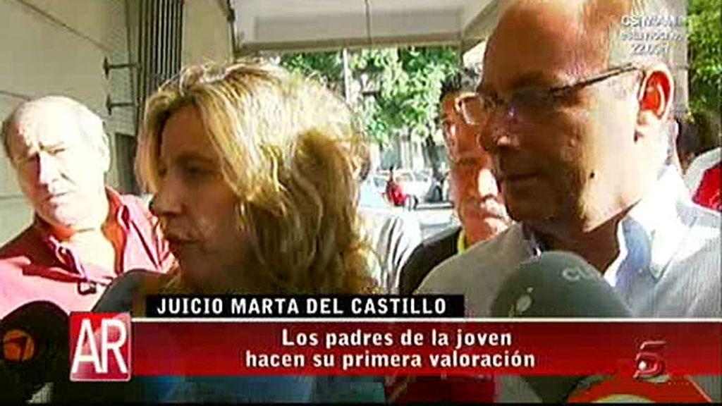Los padres de Marta, en el juicio