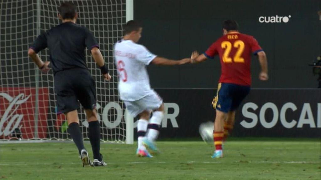 Gol: España 2-0 Noruega (min.87)