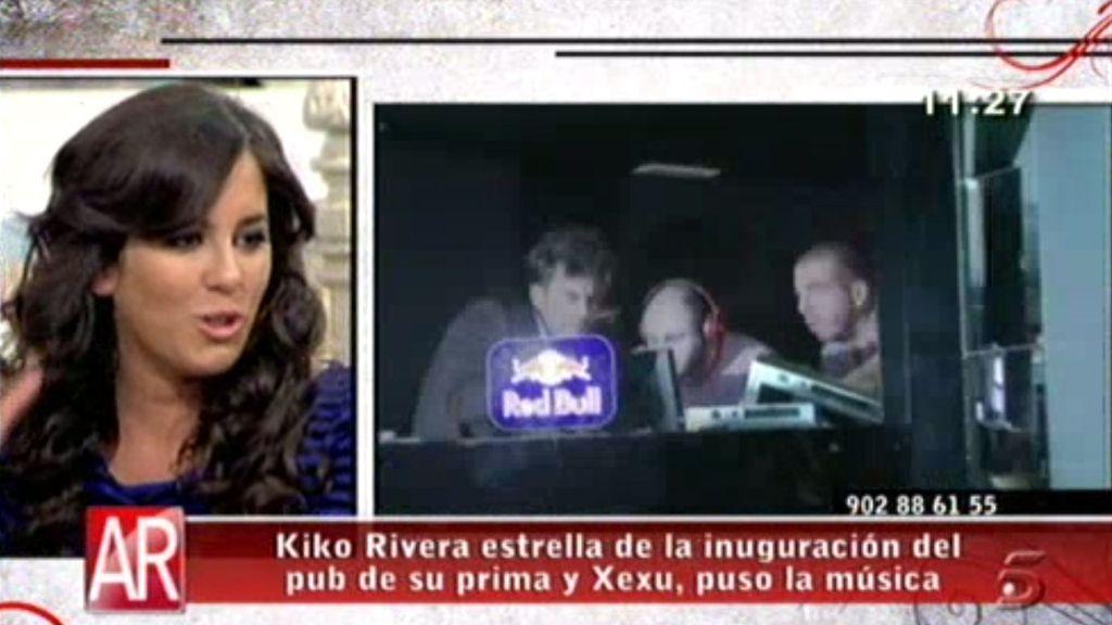 Anabel Pantoja inaugura con Xexu su local de copas