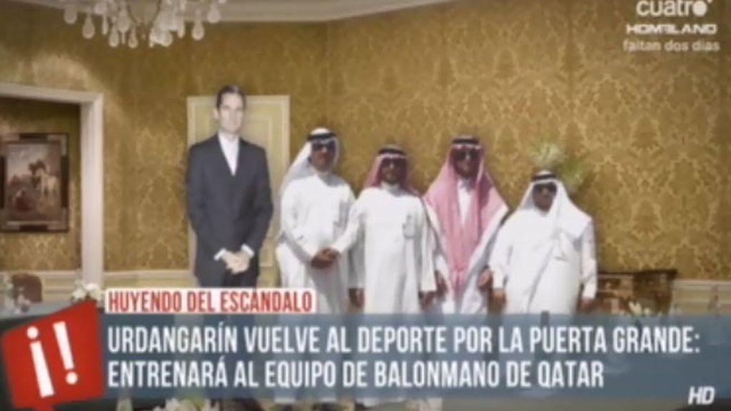 Urdangarín vuelve al deporte por la puerta grande: entrenará a un equipo de Qatar