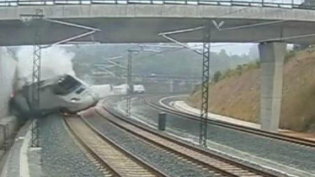 Así descarriló el tren de Santiago