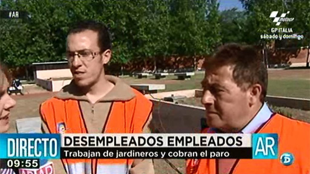 Carlos y Rubén, contentos con sus trabajos de utilidad social