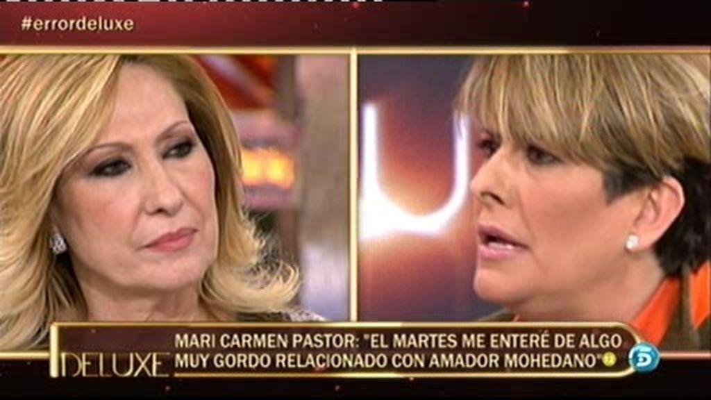 Mari Carmen 'Error' afirma que Amador Mohedano se ha besado con otra mujer