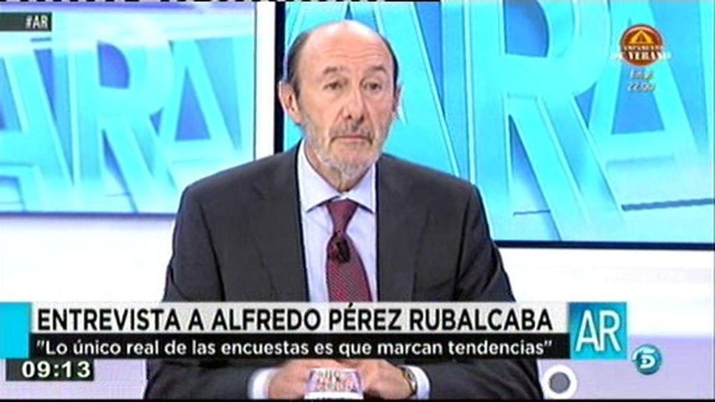 """Rubalcaba: """"Lo único real de las encuestas es que marcan tendencias"""""""