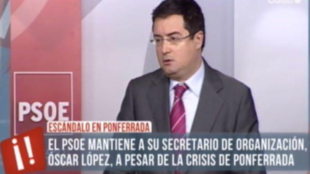 Óscar López admite su error