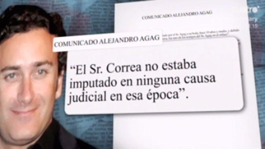 Alejandro Agag  ha admitido que Correa pagó parte de la boda como un regalo