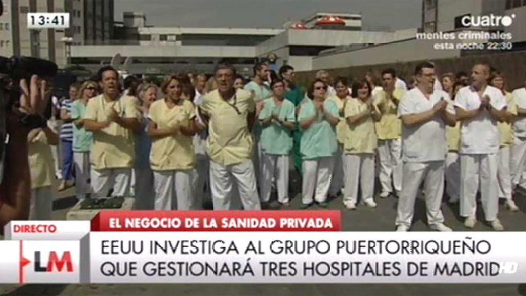 Personal sanitario de La Paz se concentra por la privatización y los recortes