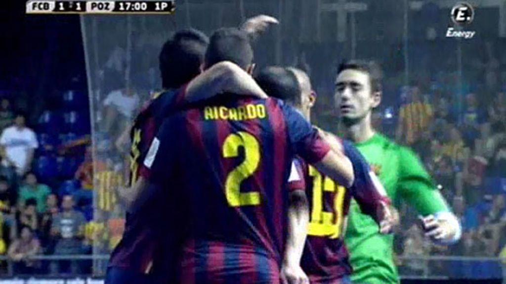 Gol de Aicardo (Barcelona 2-1 ElPozo)