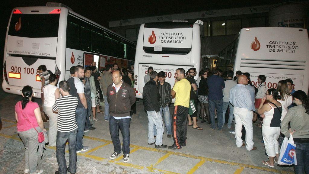 Masiva respuesta a la donación de sangre tras el accidente