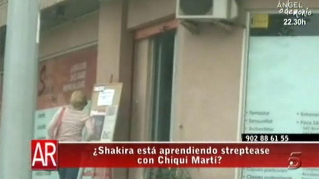 Shakira, en clases con Chiqui