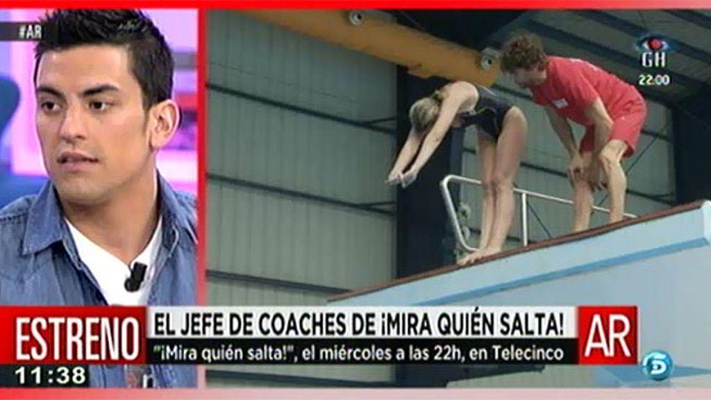 """Javier Illana, coach de '¡Mira quién salta!': """"Es más difícil aprender en piscinas sin burbuja"""""""
