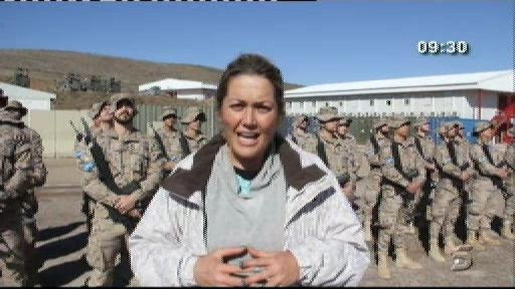Mayka Navarro, en Afganistán con las tropas españolas