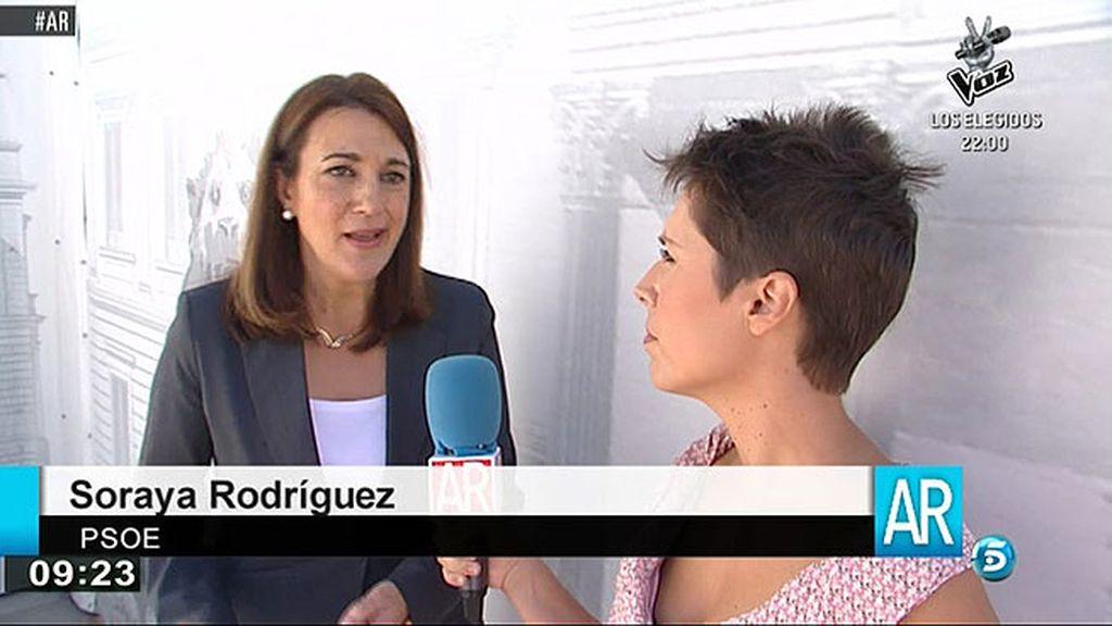 """Soraya Rodríguez: """"Trabajar todos juntos qué significa, ¿blanquear la trama Gürtel y la trama Bárcenas?"""""""