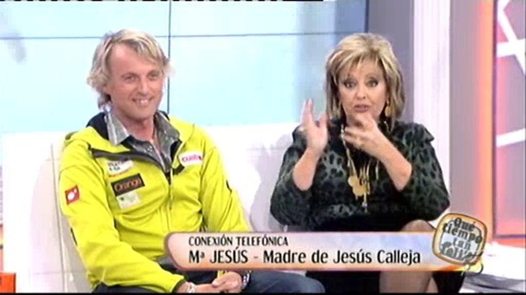 La madre de Calleja le sorprende en directo