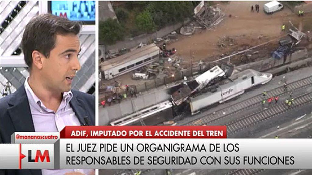 """Fernando Puente: """"Tal y como estaba la vía, si el ordenador del tren funcionase el accidente se podría haber evitado"""""""