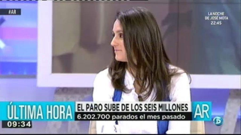María Jesús González, 17 años inscrita en el paro