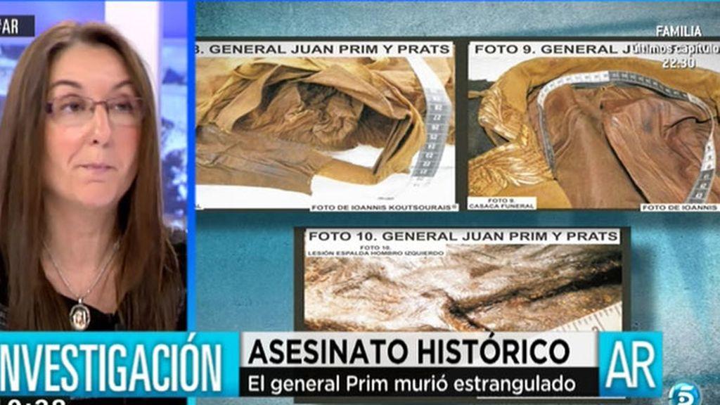 """María del Mar Robledo: """"Al General Prim no se le hizo autopsia"""""""