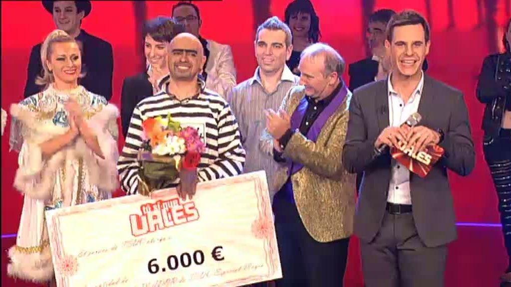 Serjo, ganador de los 6000 euros