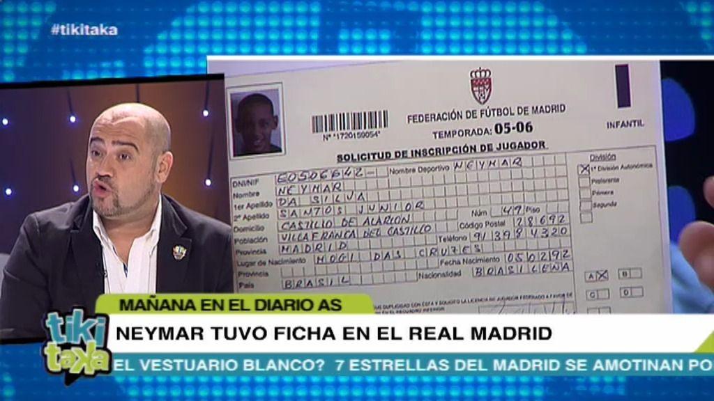 ¡¡Neymar tuvo ficha  en 2006 con el Real Madrid!!