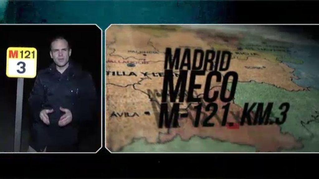 Meco, Madrid, una peligrosa figura en la calzada
