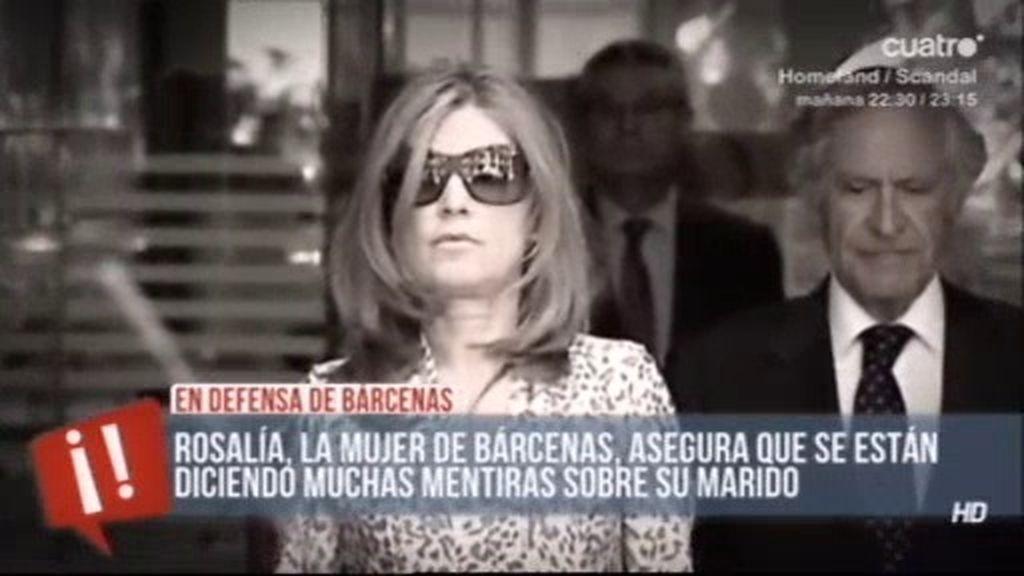 Rosalía, mujer de Bárcenas, abatida