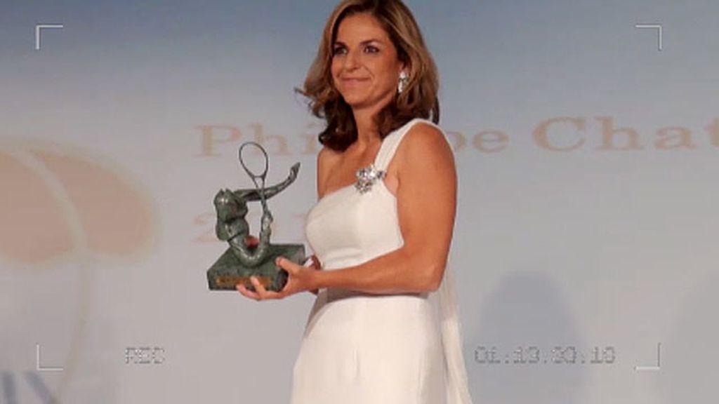 Arantxa recibe el premio Phillipe Chartrier en París