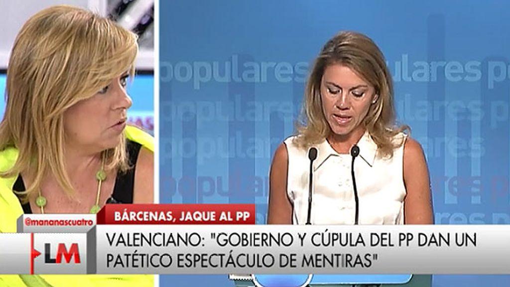 """Elena Valenciano: """"El colmo de la desfachatez es decir que han destruido el disco duro para cumplir la ley"""""""