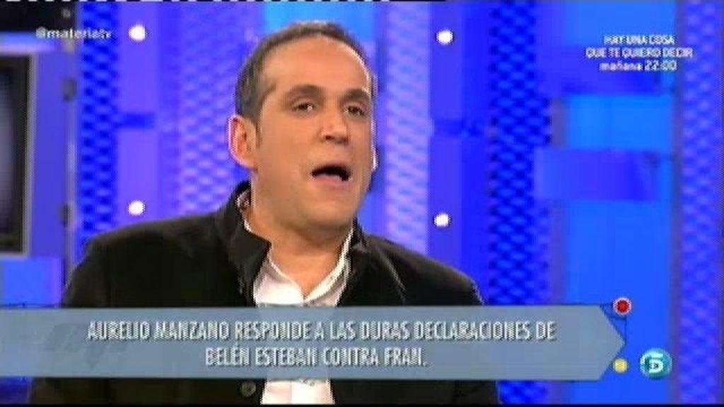 """Aurelio Manzano: """"Fran sigue enamorado y piensa que esto puede terminar"""
