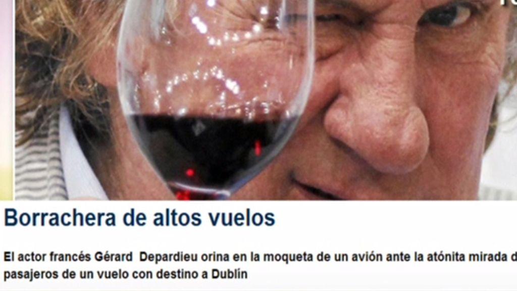 Depardieu, expulsado de un avión