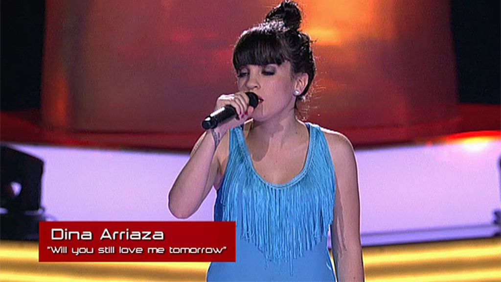 La actuación de Dina Arriaza: 'Will you still love me tomorrow'