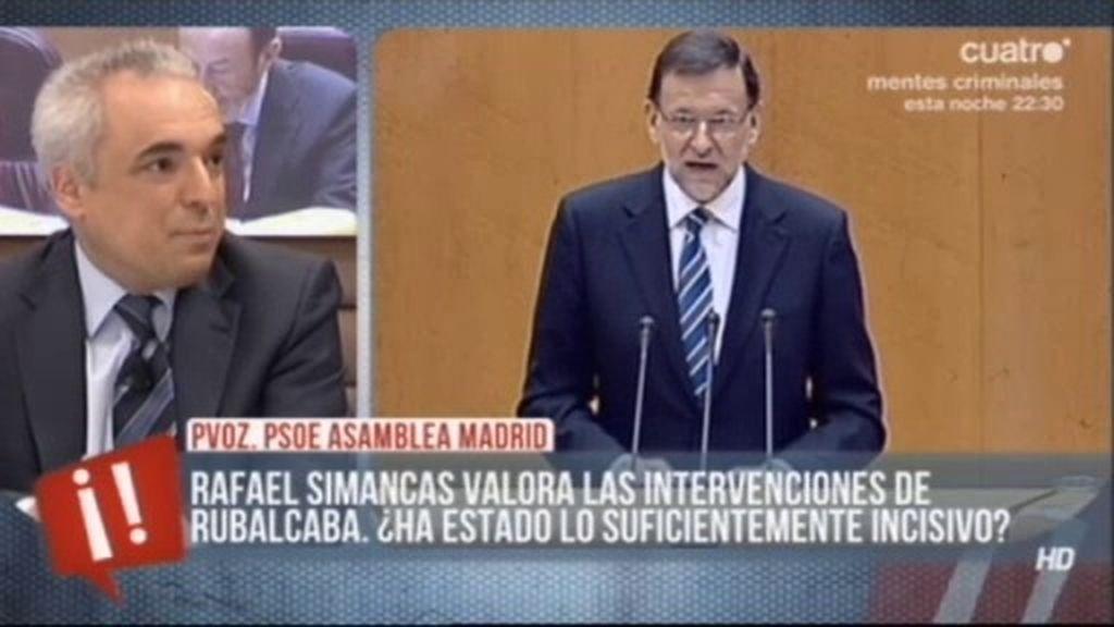 """Simancas: """"He visto a Rajoy nervioso y decepcionante. Esperábamos explicaciones"""""""