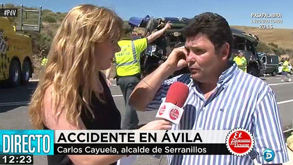 """Carlos Cayuela, alcalde de Serranillos: """"El conductor es una persona con experiencia"""""""