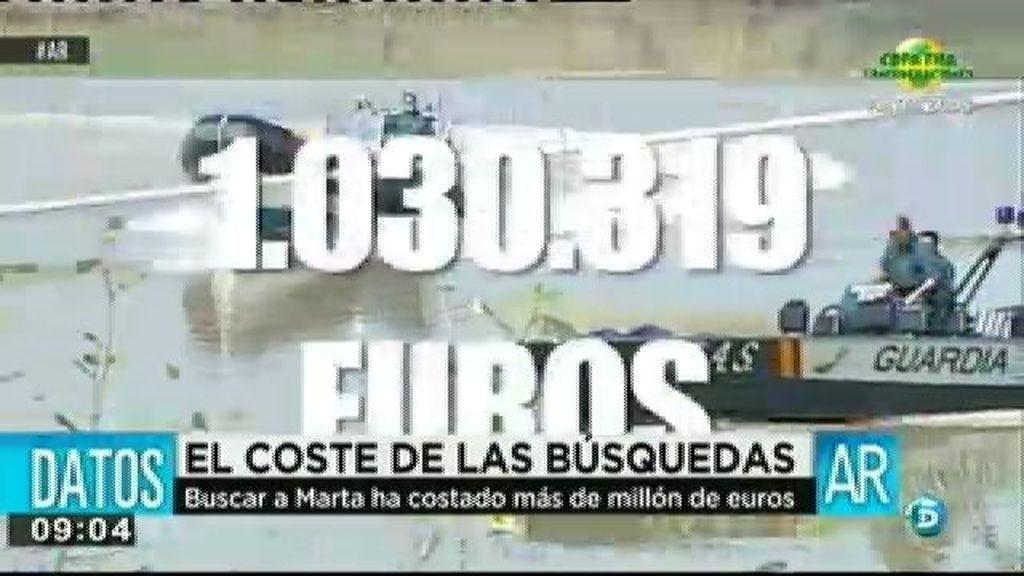 Las búsquedas de Marta del Castillo han costado más de un millón de euros
