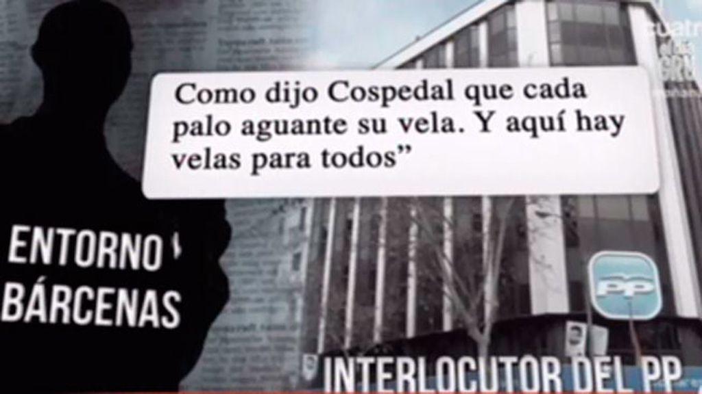El ingreso de Bárcenas en prisión rompe la relación con su interlocutor en el PP