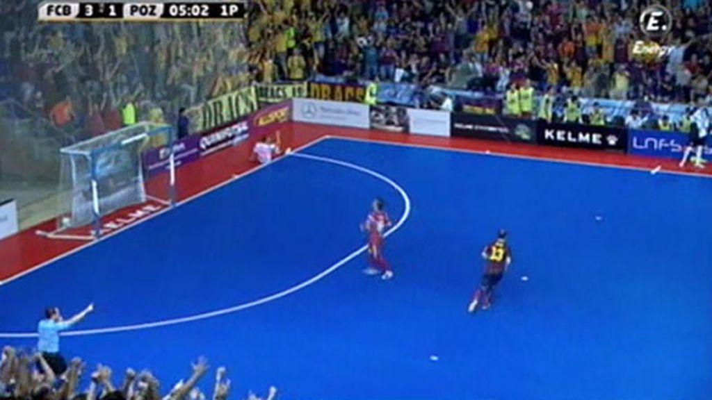 Gol de Lozano (Barcelona 4-1 ElPozo)