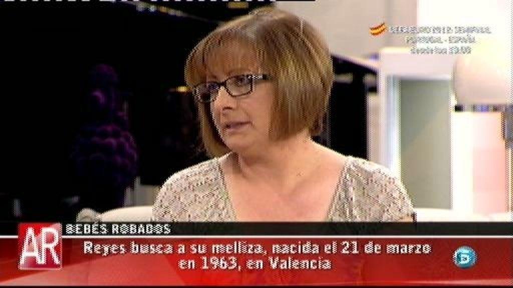 Reyes busca a su gemela, nacida en Valencia el 21 de marzo de 1963