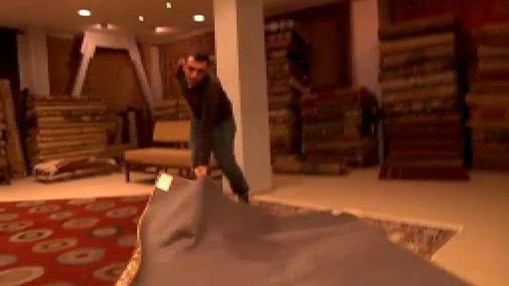 Pisar sobre una alfombra de 50.000 euros