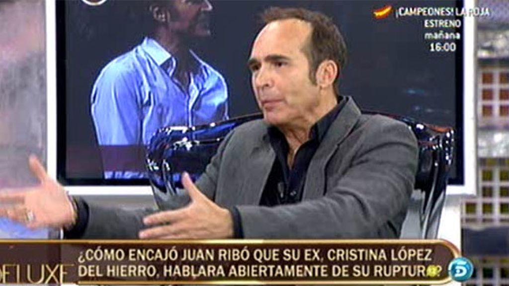 Juan Ribó habla de su separación de Cristina López del Hierro