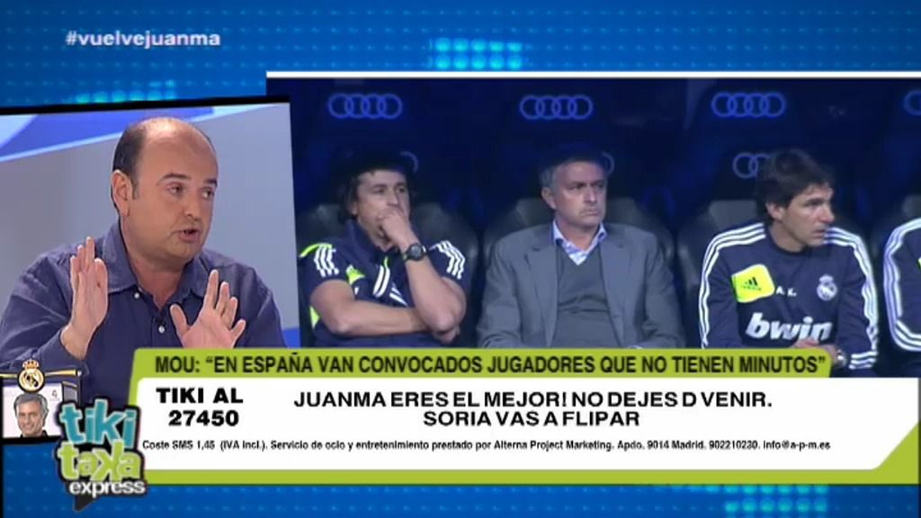 Vuelve Mourinho y vuelve Juanma Rodríguez