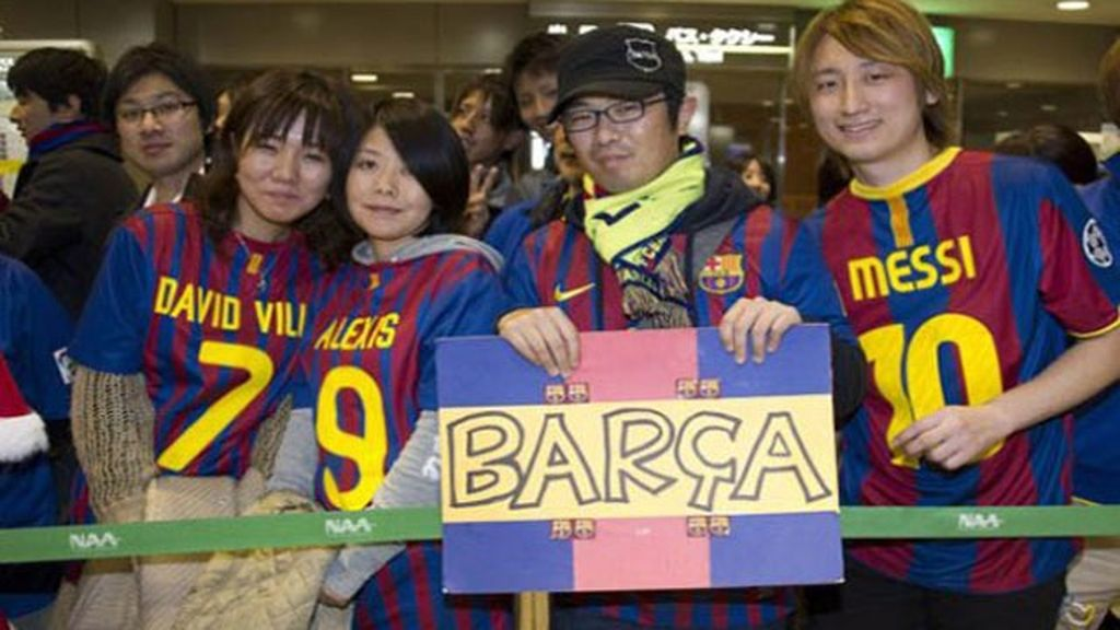 Pasión por el Barcelona en Japón